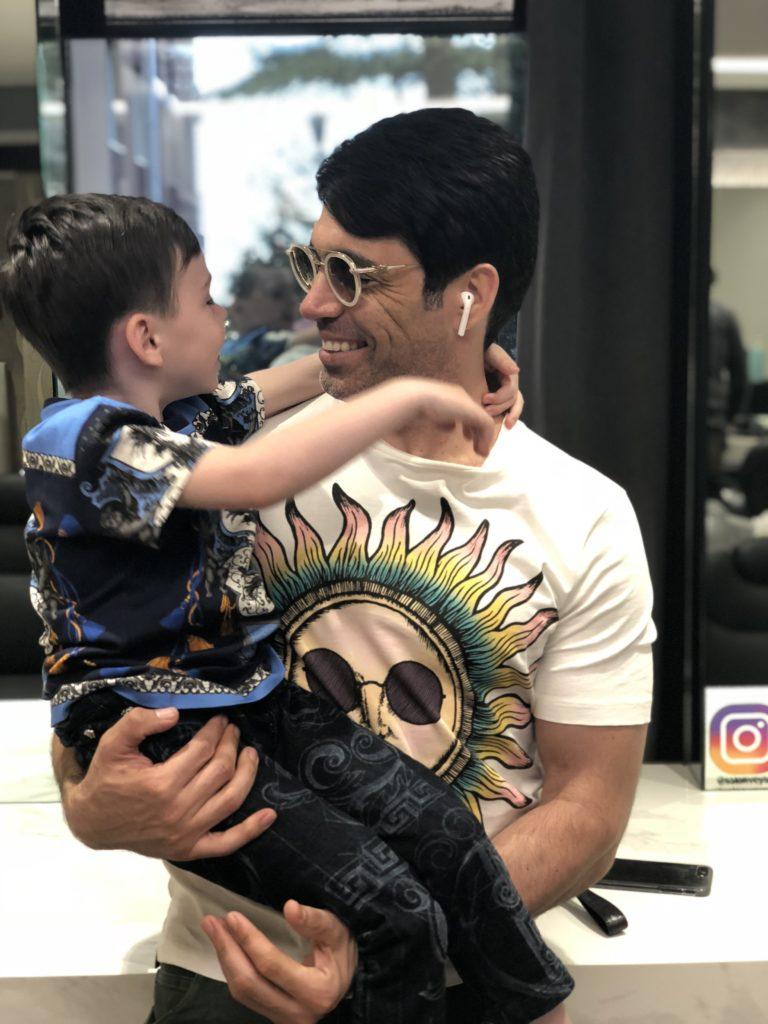בוריס וולפמן עם הילד שלו